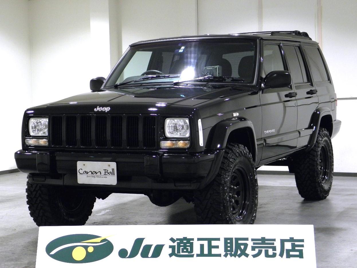 スポーツ-LTDver:Newブラックボディ DVDナビ XJ型Jeep最終モデル 【ワンオーナー】