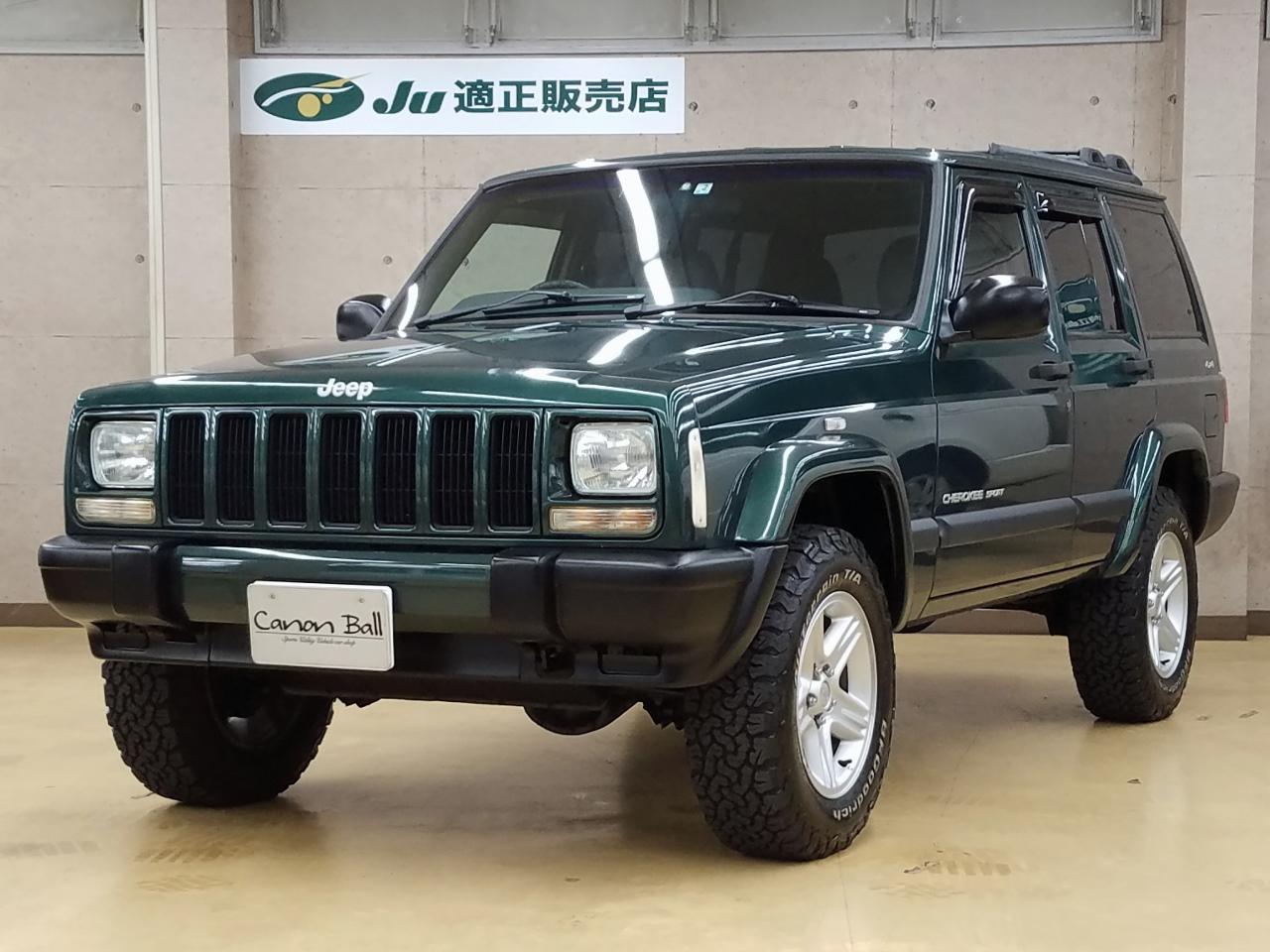 スポーツ 純正16AW&A/Tタイヤ ビルトイン式SDナビ&地デジフルセグTV&Bluetooth一体機 XJ型Jeep最終モデル【車検32年2月】【美車】 のイメージ画像です